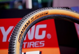 "Chaoyang Graham tires, now with brown ""skinwall"" side"